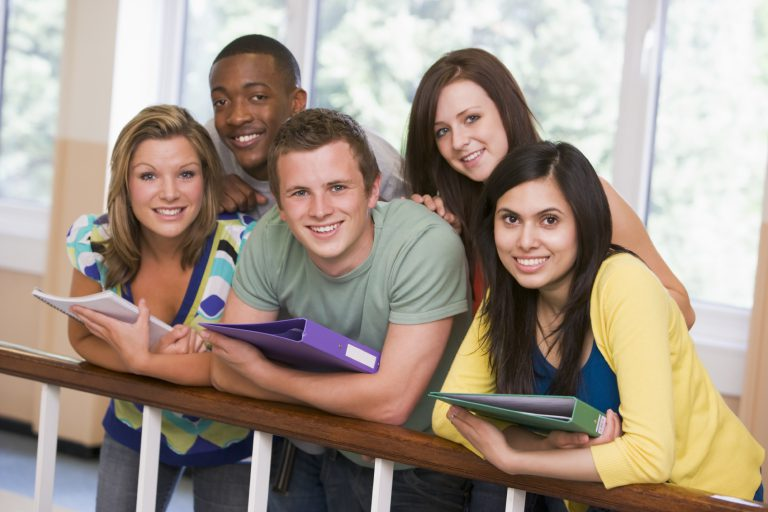 Freshers students at university